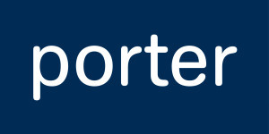 porter - 100x20 - enlarged logo - white on blue