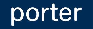 porter - 100x20 - enlarged logo - white on blue